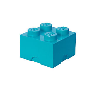 Lego ®  Storage Brick 4 - Azur Blue, Blue, large
