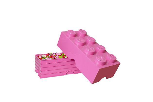 Lego ®  Storage Brick 8 - Pink, Pink, large