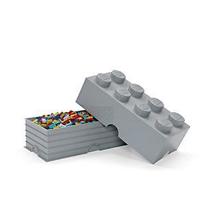 Lego ®  Storage Brick 8 - Gray, Gray, rollover