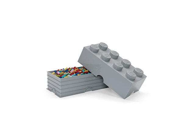 Lego ®  Storage Brick 8 - Gray, Gray, large
