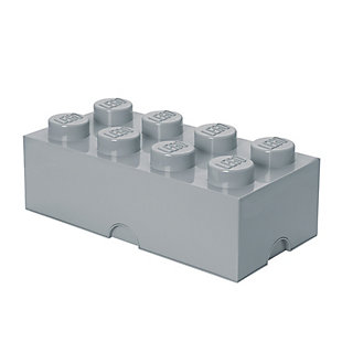 Lego ®  Storage Brick 8 - Gray, Gray, large