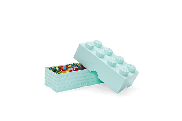 Lego ®  Storage Brick 8 - Aqua Blue, Aqua Blue, large