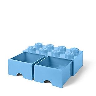 Lego ®  Brick Drawer 8 - Light Blue, Light Blue, large
