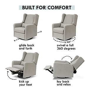 Carter's by Davinci Arlo Recliner and Swivel Glider, Gray, large