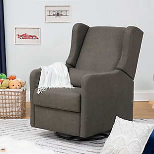 Carter's by Davinci Arlo Recliner and Swivel Glider, Charcoal, rollover