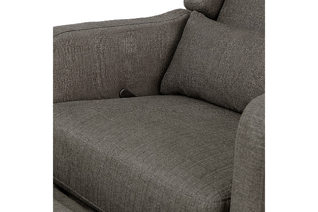 Carter's by Davinci Arlo Recliner and Swivel Glider, Charcoal, large