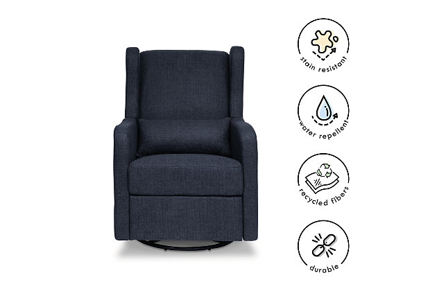 Carter's by Davinci Arlo Recliner and Swivel Glider, Blue, large