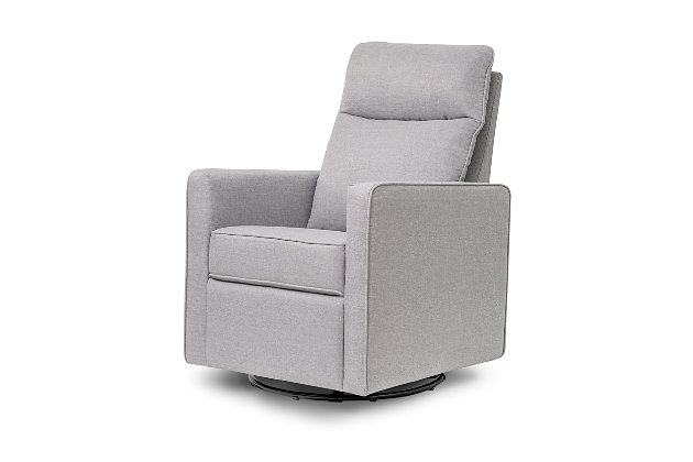 Davinci Gabby Pillowback Swivel Glider, Misty Gray, large