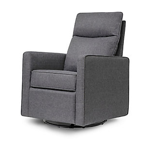 Davinci Gabby Pillowback Swivel Glider, Shadow Gray, large
