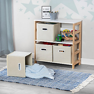 Honey-Can-Do 4-Bin Kids Room Or Playroom Organizer, , rollover