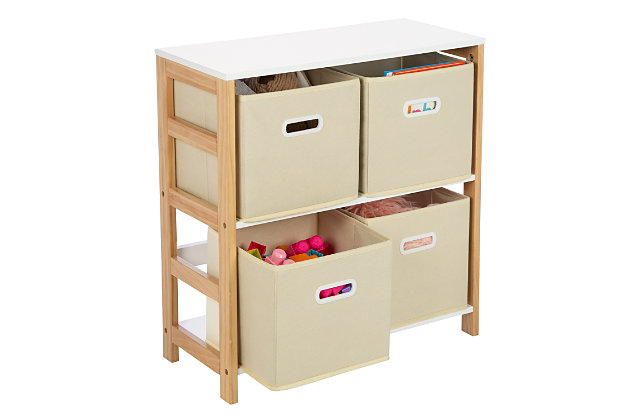 Honey-Can-Do 4-Bin Kids Room Or Playroom Organizer, , large