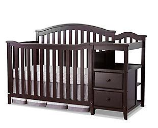 Sorelle  Berkley Crib & Changer, Brown, large