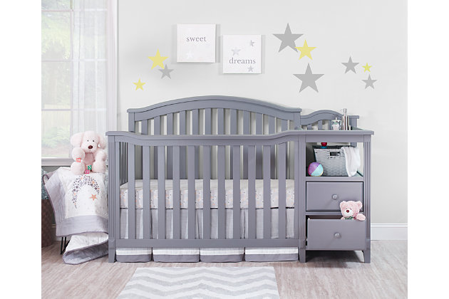 Sorelle  Berkley Crib & Changer, Gray, large