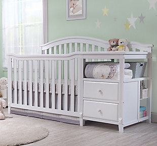 Sorelle  Berkley Crib & Changer, White, rollover