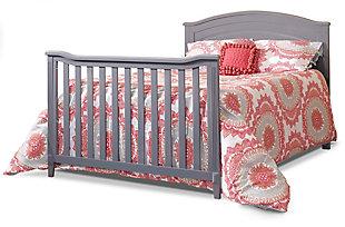 Sorelle  Berkley Round Top Panel Crib, Gray, large
