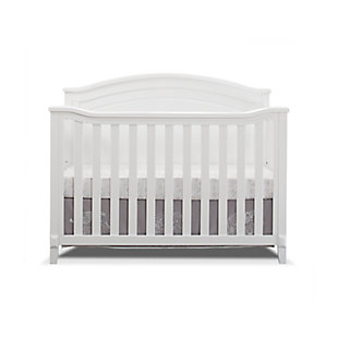Sorelle  Berkley Round Top Panel Crib, White, large