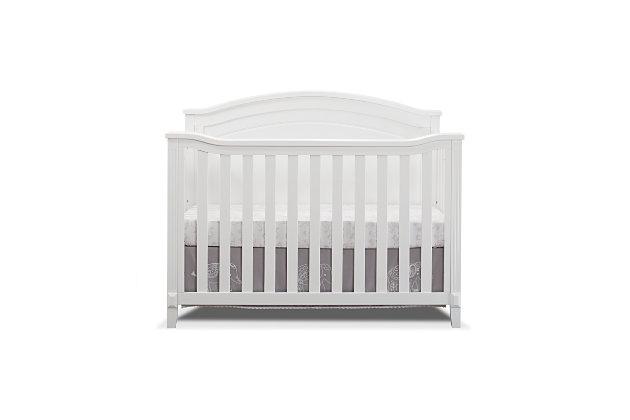 Sorelle  Berkley Round Top Panel Crib, White, large