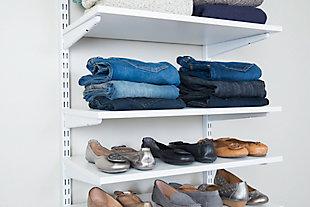 """Organized Living freedomRail® Adjustable Shelf Kit- 24"""" (8 Shelf), Chocolate Pear, large"""