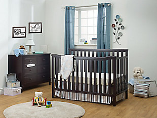 Sorelle  Berkley Flat Top Crib, Brown, rollover