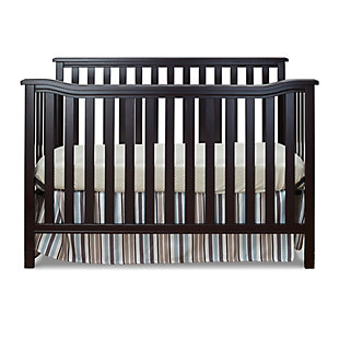 Sorelle  Berkley Flat Top Crib, Brown, large
