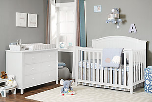 Sorelle  Fairview 4-in-1 Crib, White, rollover