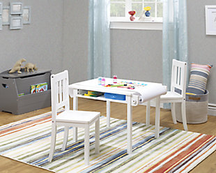 Sorelle  Imagination Table & Chair Set, White, rollover