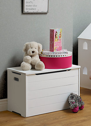 Sorelle  Farmhouse Toy Box, White, rollover