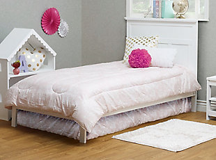 Sorelle  Twin Bed, White, rollover