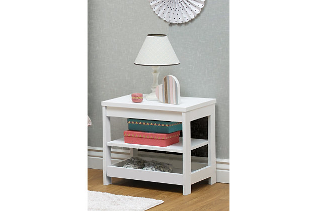 Sorelle  Sierra Nightstand, White, large