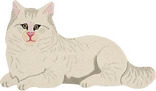 "Nourison Mina Victory Plushlines 24"" x 36"" Cat Rug, , large"