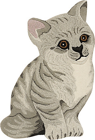 "Nourison Mina Victory Plushlines 24"" x 36"" Kitten Rug, , rollover"