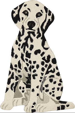 "Nourison Mina Victory Plushlines 24"" x 36"" Dalmation Rug, , rollover"