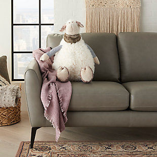 Nourison Kids Mina Victory Plush Sheep Animal Pillow, , rollover