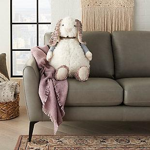 Nourison Kids Mina Plush Bunny Animal Pillow, , rollover