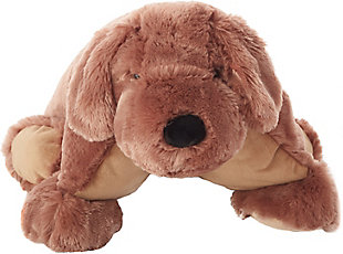 Nourison Kids Mina Plush Dog Animal Pillow, , large