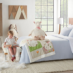 Nourison Kids Mina Victory Plush Llama Animal Pillow, , rollover