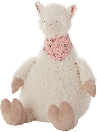 Nourison Kids Mina Victory Plush Llama Animal Pillow, , large