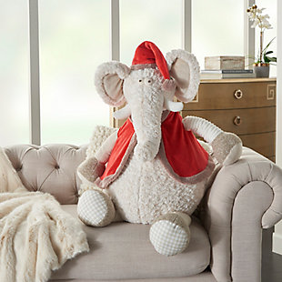Nourison Kids Mina Victory Christmas Elephant Animal Pillow, , rollover