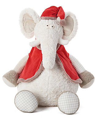 Nourison Kids Mina Victory Christmas Elephant Animal Pillow, , large