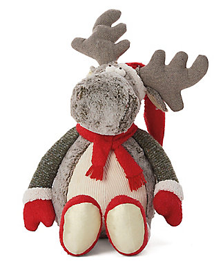 Nourison Kids Mina Victory Christmas Moose Animal Pillow, , large