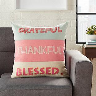 Nourison Kids Trendy Grateful Pillow, , rollover