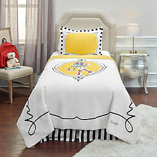Cotton Cassidy 2 Piece Twin Comforter Set, Yellow, rollover