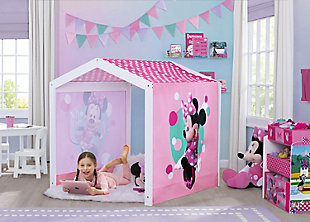 Delta Children Disney Minnie Mouse Indoor Playhouse with Fabric Tent for Boys and Girls, , rollover