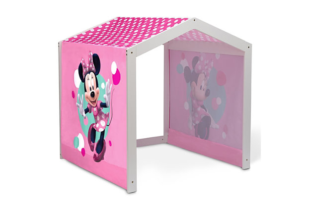 Delta Children Disney Minnie Mouse Indoor Playhouse With Fabric Tent For Boys And Girls, , large