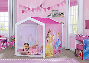 Delta Children Disney Princess Indoor Playhouse with Fabric Tent for Boys and Girls, , rollover