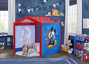 Delta Children Disney Mickey Mouse Indoor Playhouse with Fabric Tent for Boys and Girls, , rollover