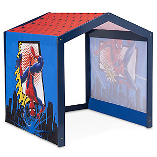 Delta Children Marvel Spider-Man Indoor Playhouse with Fabric Tent for Boys and Girls, , large