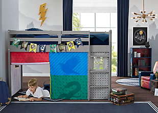 Delta Children Harry Potter Loft Bed Tent - Curtain Set For Low Twin Loft Bed (bed Sold Separately), , rollover