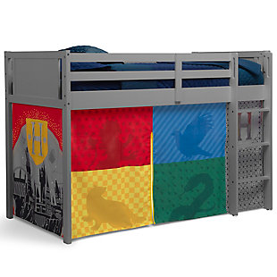 Delta Children Harry Potter Loft Bed Tent - Curtain Set For Low Twin Loft Bed (bed Sold Separately), , large