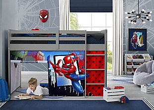 Delta Children Spider-man Loft Bed Tent - Curtain Set For Low Twin Loft Bed (bed Sold Separately), , rollover